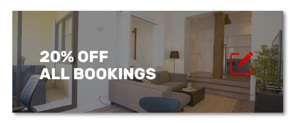 20% off all bookings