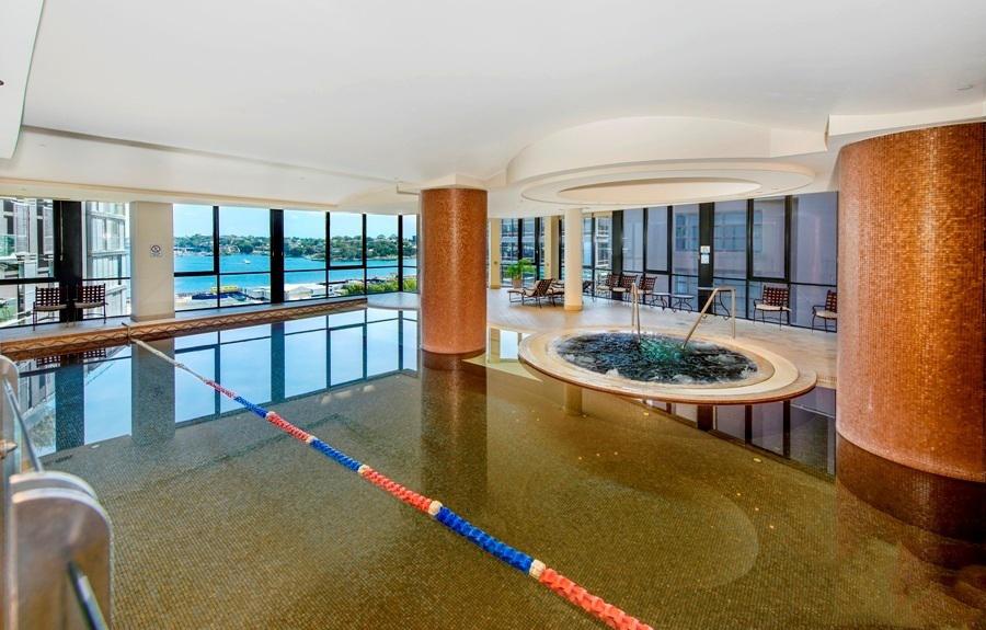 Indoor lap pool, Stamford apartment building, Sydney CBD